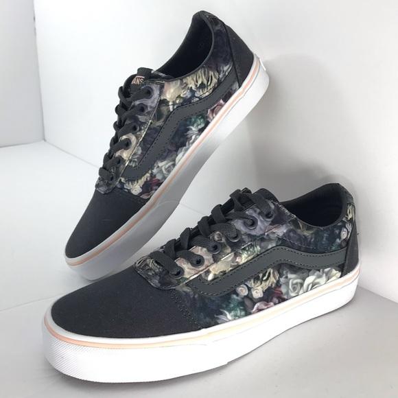 cfd68fbee3ab Vans Floral Dark Gray Sneaker